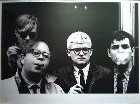 dennis-hopper-andy-warhol,-henry-geldzahler,-david-hockney-and-jeff-goodman,-from-the-geldzahler-portfolio