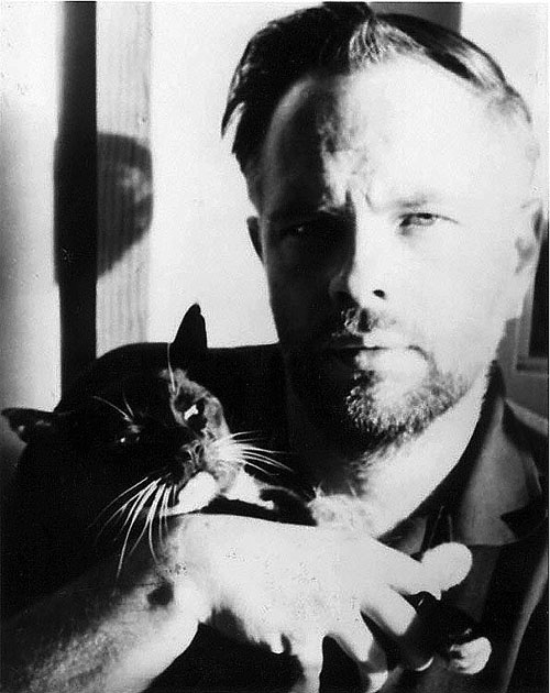 Phillip K. Dick com o gato
