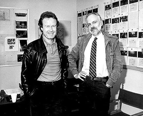 Ridley Scott e Phillip K. Dick durante as filmagens de Blade Runner